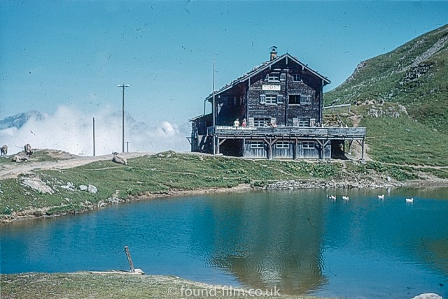 Pictures of Lakes and Mountains in Europe - The Climber's Hut at Jochpass (Engelburg) in 1962