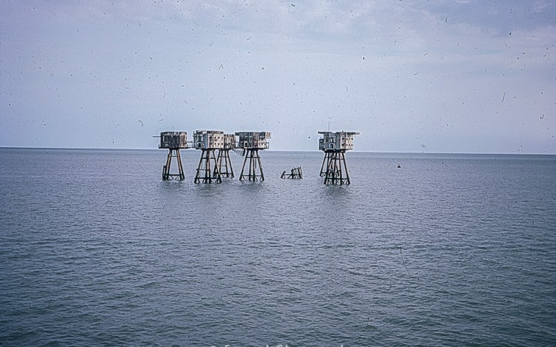 Maunsell Forts in the Thames Oct 1976