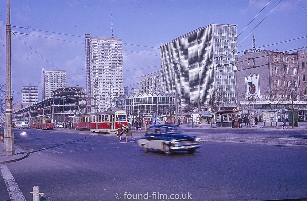 The Rotunda building in the city of Warsaw Poland, about 1960?