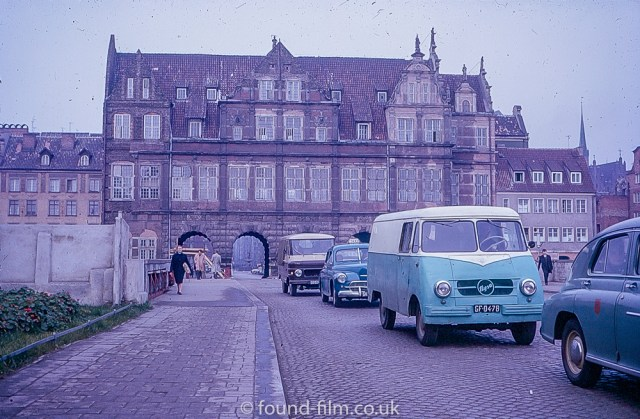A City Street with cars in Poland c1960
