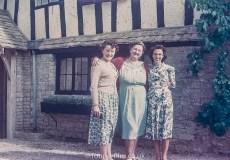 Family group outside their house