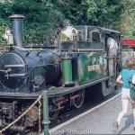 A Steam engine on the Ffestiniog railway
