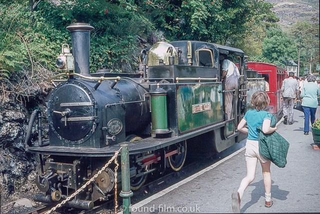 An engine on the Ffestiniog railway