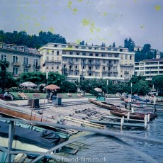 Pictures of Lakes and Mountains in Europe - Lake Lugano in Switzerland early 1960sMedium format negatives -