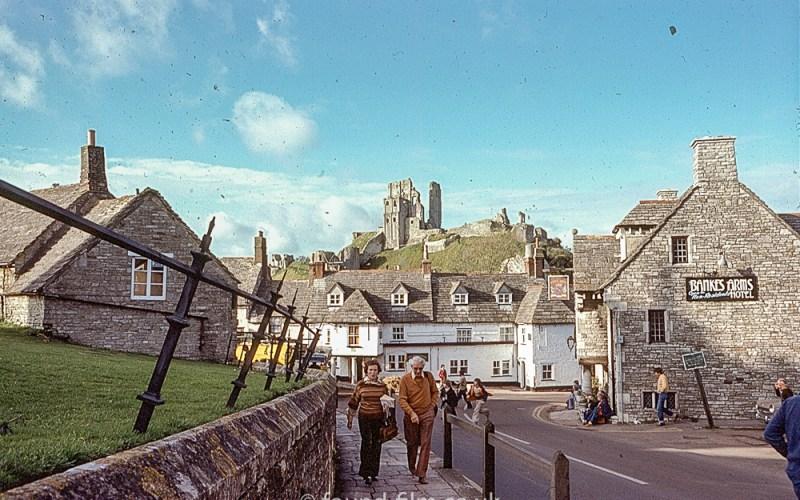 Corfe Castle in 1978