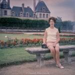 Medium format negatives - Lady with Box Camera on seat