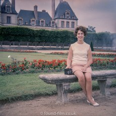 Medium format negatives - Lady with Box Camera on seat