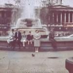Trafalgar Square in London probably in the 1950s