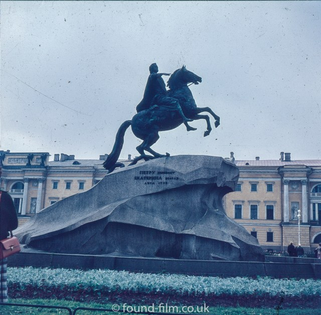 Images from Soviet era Leningrad - Peter the Great Statue