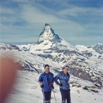 Skiing near the Matterhorn - early 1960s