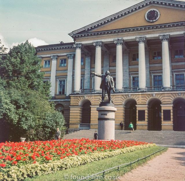 Images from Soviet era Leningrad - Statue of Lenin