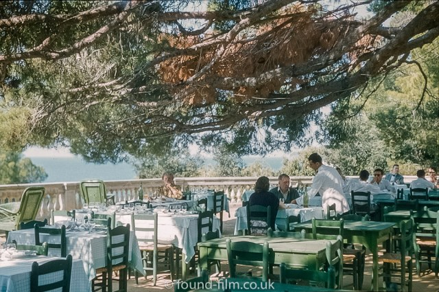 Pictures of Spain from 1955 - Terrace on the Hotel S. Christinia Spain 1955