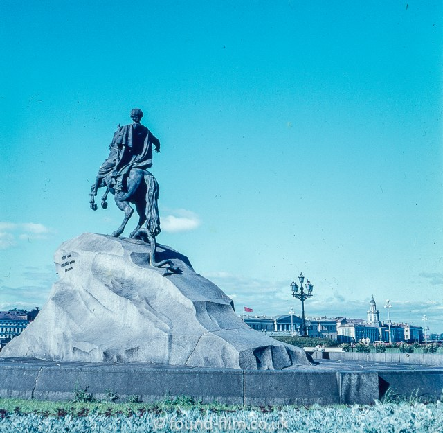 Images from Soviet era Leningrad - The Statue of Peter the Great