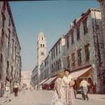 Dubrovnik Street scene in the late 1950s
