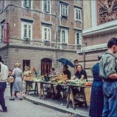 Street market in Rijecka - late 1950s