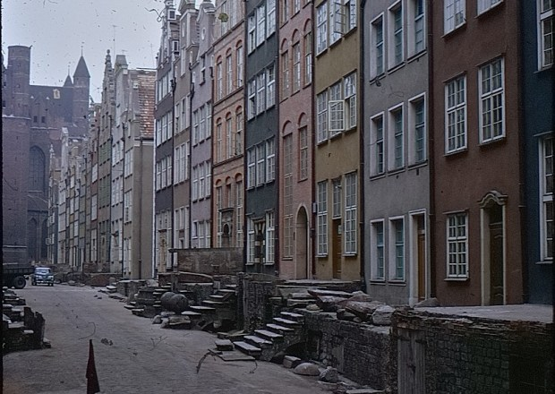 Coloured houses in European City
