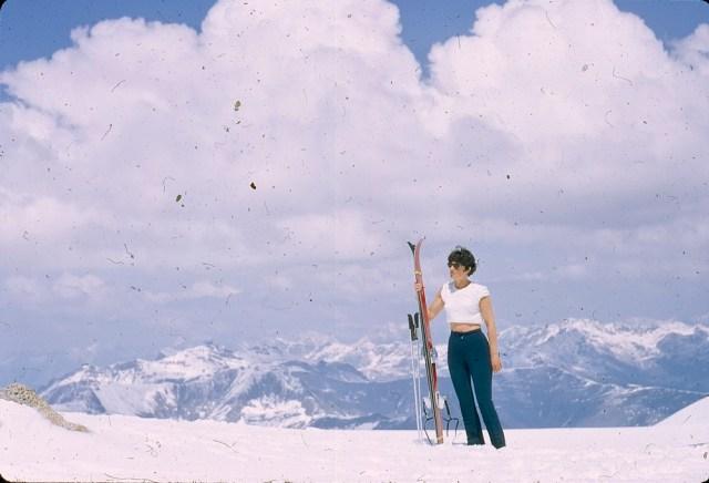 Woman on skying holiday