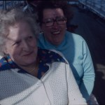 A Boots colour slide of a candid portrait of two women