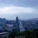 A Kodachrome slide looking down Princes Street in July 1967