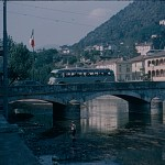 A Kodachrome slide showing the Bridge between Switzerland and Italy