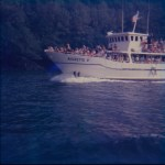 A colour slide of the Aigrette V sight seeing boat