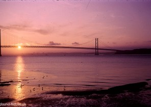 A Kodachrome slide of the forth bridge at Sunset