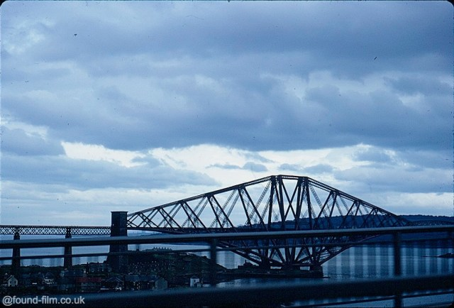 A Kodachrome slide of the forth bridge from the old bridge