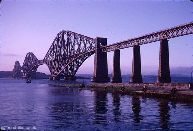 A Kodachrome slide of the forth bridge in early evening