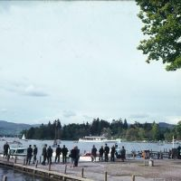 People looking out over the Lake at Windermere in the 1960s