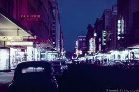 Rundle Street in Adelaide by Night, 1959