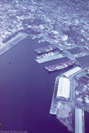 Hobart waterfront from the air
