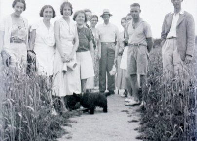 A Group of friends in a field from about 1935
