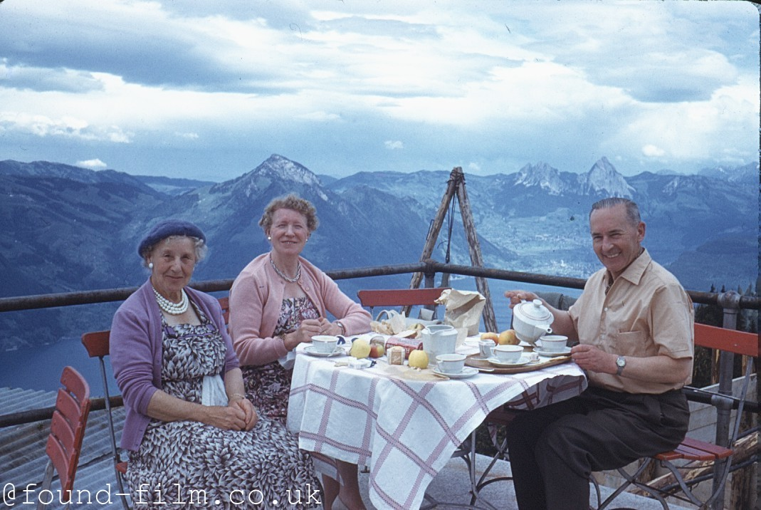 A Mountain top cafe in Switzerland - 1961