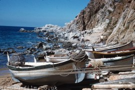 Fishermen and fishing boats in Spain - 1958