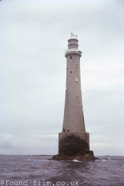 The Bishop Rock Lighthouse off the Scilly Isles in 1974