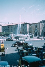 Piazza Esedra in Rome from 1958