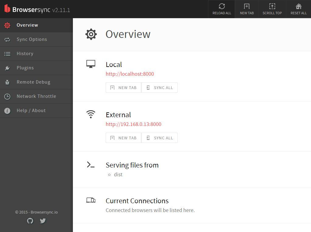 Foundation Browsersync イメージ