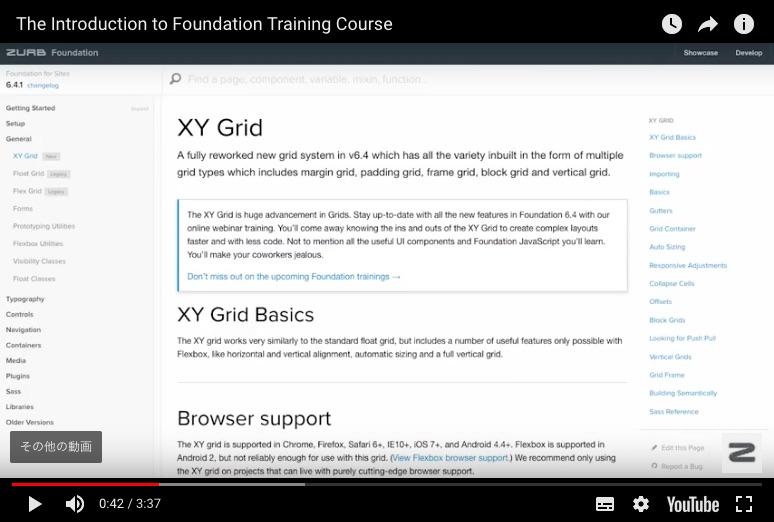 foundation6 XY Gridイメージです