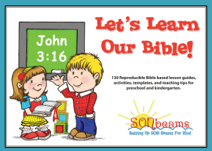 Let's Learn Our Bible Preschool Curriculum | Sonbeams at Foundations Press