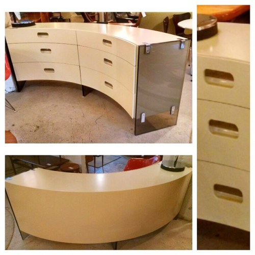 Dresser in Lacquer, Acrylic & Chrome
