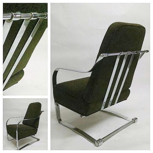 1930s Machine Age Lounge Chair