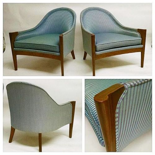 Pair of 1950s Tub Chairs