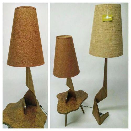 Canadian Constructivist Teak Lamps