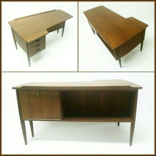 L-shaped Teak Desk