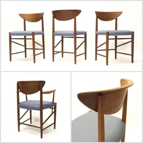 4x Hvidt & Mølgaard Dining Chairs
