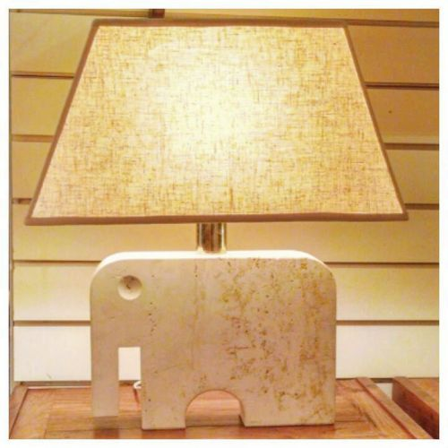 Travertine Lamp by Fratelli Manelli