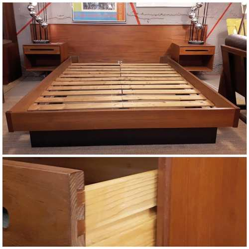 Westnofa Teak Queen Platform Bed