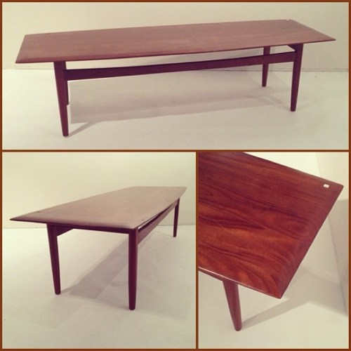 Solid Afrormosia Canadian Coffee Table