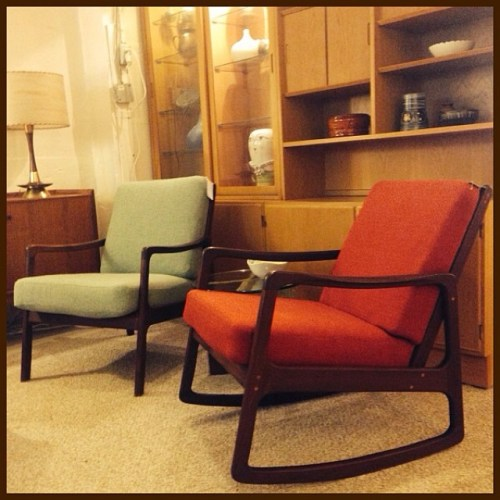 Lounge Chair and Rocker by Ole Wanscher