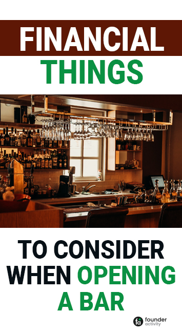 financial things to consider when opening a bar